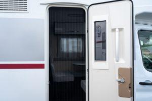 Campervan view doors