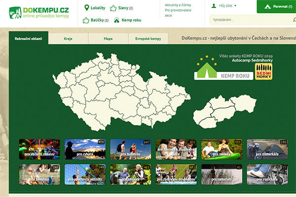 Czech and Slovakia camp search site