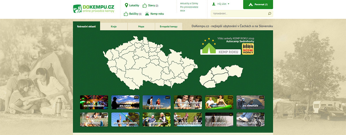 CZ and SK camp search site